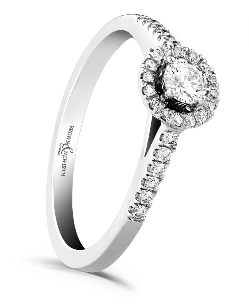 First Kiss Halo Cluster | Platinum Engagement Ring